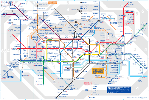 London Underground Tube Map 2008
