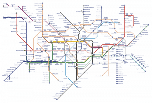 London Underground Tube Map 2009